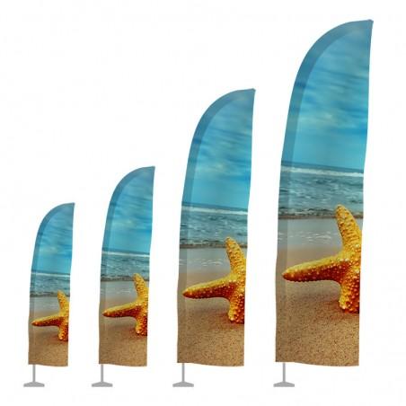 Flaga plażowa WINDER - kształt pióra