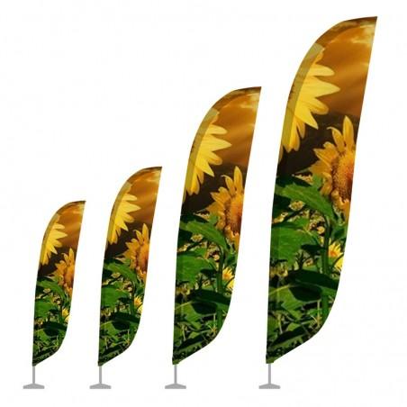 Flaga plażowa WINDER - kształt grzebienia