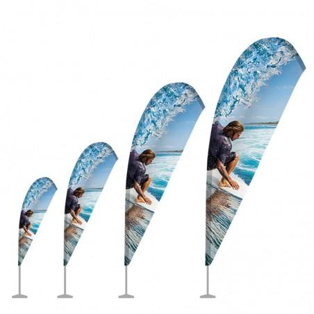 Flaga plażowa WINDER - kształt lotki