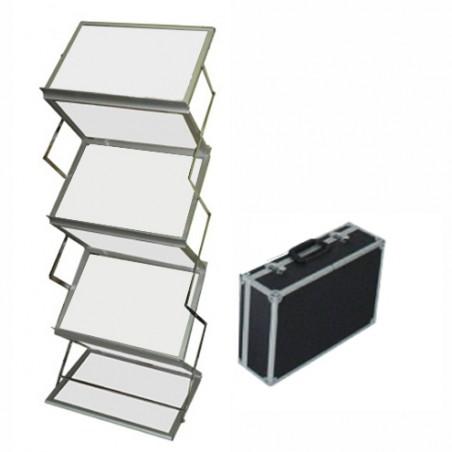 Stojak na ulotki lub foldery typu Zyg Zag A3x6 z walizką